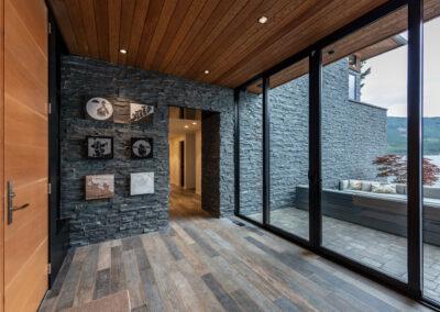 modern entryway custom home